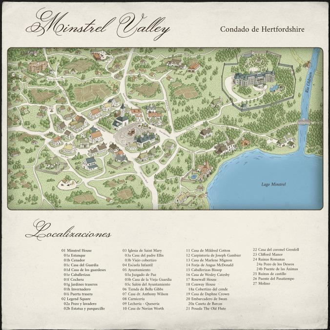 mapa MINSTREL VALLEY